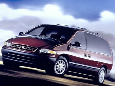 3/4 Front Glamour 2000 Plymouth Grand Voyager