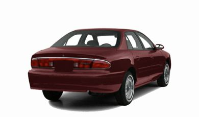 3/4 Rear Glamour  2000 Buick Century