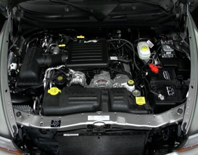 Engine Bay  2000 Dodge Durango