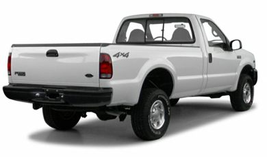 3/4 Rear Glamour  2000 Ford F-350