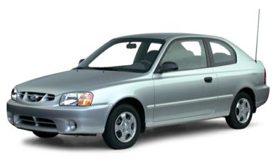 3/4 Front Glamour 2000 Hyundai Accent