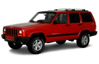 3/4 Front Glamour 2000 Jeep Cherokee