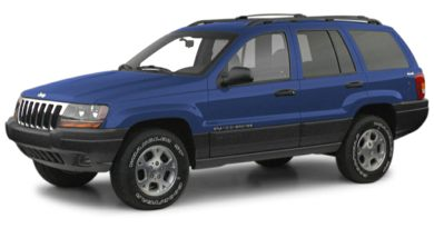 3/4 Front Glamour 2000 Jeep Grand Cherokee