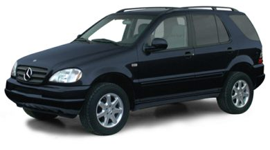 3/4 Front Glamour 2000 Mercedes-Benz ML430