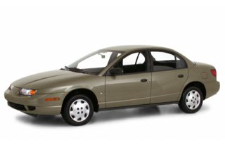 3/4 Front Glamour 2000 Saturn SL1