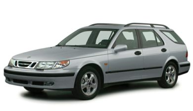 3/4 Front Glamour 2000 Saab 9-5