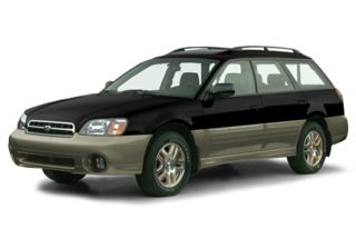 3/4 Front Glamour 2000 Subaru Outback