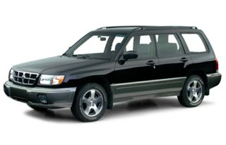 3/4 Front Glamour 2000 Subaru Forester