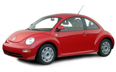 3/4 Front Glamour 2000 Volkswagen New Beetle