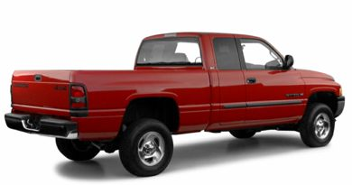 3/4 Rear Glamour  2001 Dodge Ram 1500
