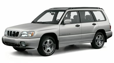 3/4 Front Glamour 2001 Subaru Forester