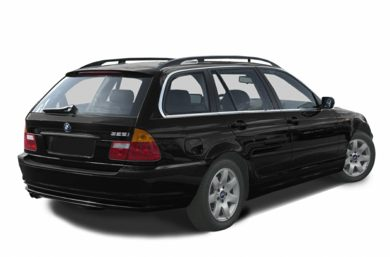 3/4 Rear Glamour  2002 BMW 325