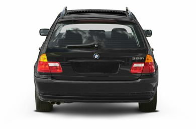 Rear Profile  2002 BMW 325
