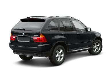 3/4 Rear Glamour  2002 BMW X5