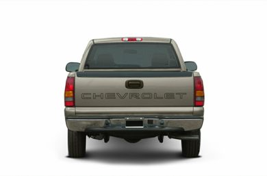 Rear Profile  2002 Chevrolet Silverado 1500