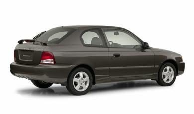 3/4 Rear Glamour  2002 Hyundai Accent