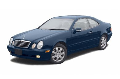 3/4 Front Glamour 2002 Mercedes-Benz CLK55 AMG