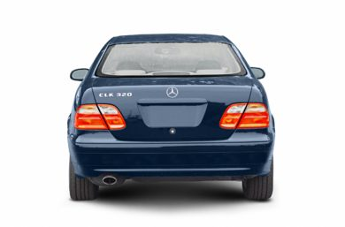 Rear Profile  2002 Mercedes-Benz CLK55 AMG