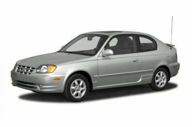 3/4 Front Glamour 2003 Hyundai Accent