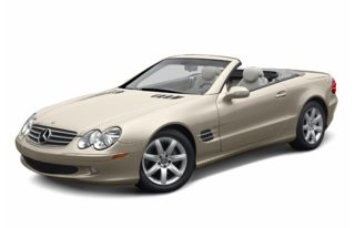 3/4 Front Glamour 2003 Mercedes-Benz SL55 AMG