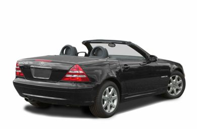 3/4 Rear Glamour  2003 Mercedes-Benz SLK320