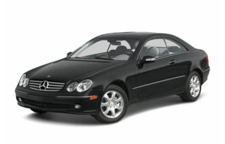 3/4 Front Glamour 2003 Mercedes-Benz CLK500