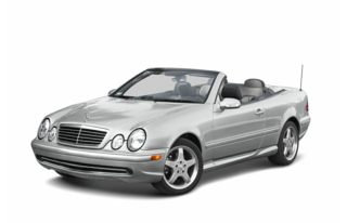 3/4 Front Glamour 2003 Mercedes-Benz CLK320