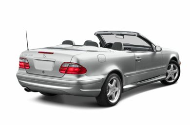 3/4 Rear Glamour  2003 Mercedes-Benz CLK430