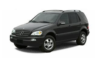 3/4 Front Glamour 2003 Mercedes-Benz ML320