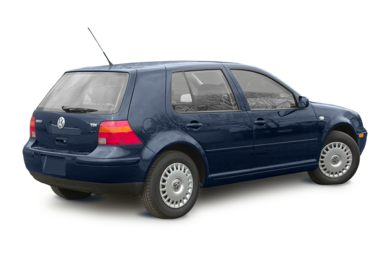 3/4 Rear Glamour  2003 Volkswagen Golf