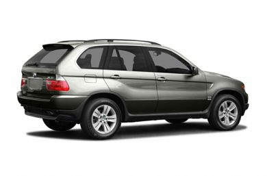 3/4 Rear Glamour  2004 BMW X5