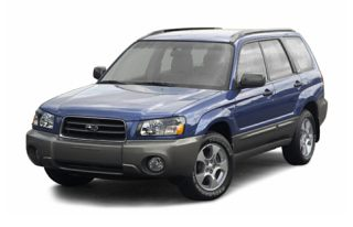 3/4 Front Glamour 2004 Subaru Forester