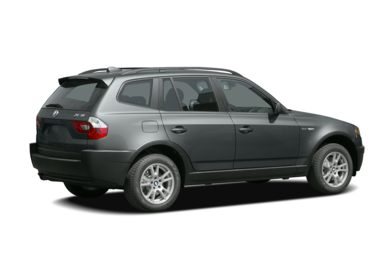 3/4 Rear Glamour  2005 BMW X3