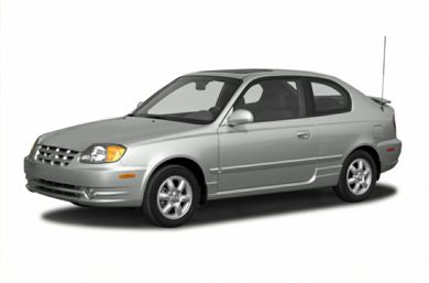 3/4 Front Glamour 2005 Hyundai Accent