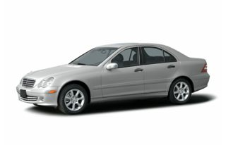 3/4 Front Glamour 2005 Mercedes-Benz C55 AMG