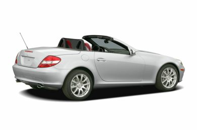 3/4 Rear Glamour  2005 Mercedes-Benz SLK55 AMG
