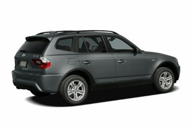 3/4 Rear Glamour  2006 BMW X3