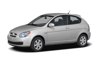 3/4 Front Glamour 2007 Hyundai Accent