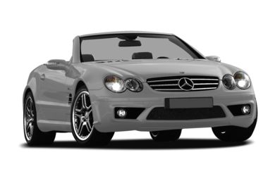 3/4 Front Glamour 2007 Mercedes-Benz SL55 AMG