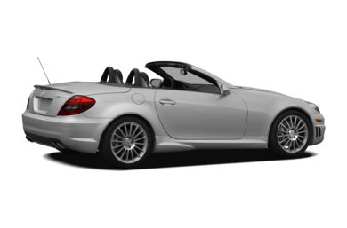 3/4 Rear Glamour  2007 Mercedes-Benz SLK55 AMG