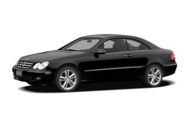 3/4 Front Glamour 2007 Mercedes-Benz CLK350