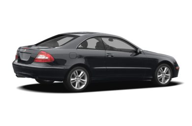 3/4 Rear Glamour  2007 Mercedes-Benz CLK550