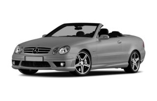 3/4 Front Glamour 2007 Mercedes-Benz CLK550
