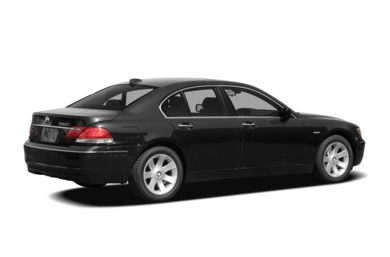 3/4 Rear Glamour  2008 BMW 750