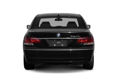 Rear Profile  2008 BMW 750