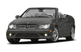 3/4 Front Glamour 2008 Mercedes-Benz CLK350