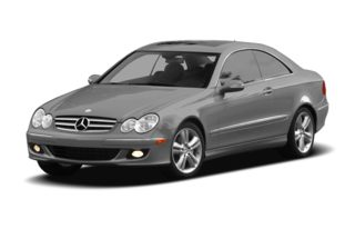 3/4 Front Glamour 2008 Mercedes-Benz CLK550