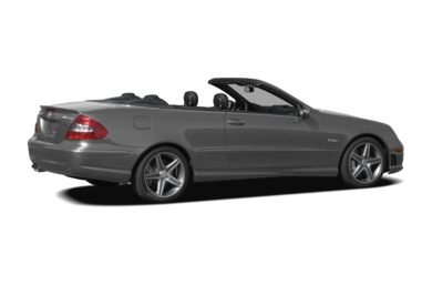 3/4 Rear Glamour  2008 Mercedes-Benz CLK63 AMG