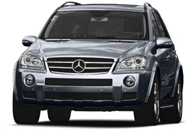 3/4 Front Glamour 2008 Mercedes-Benz ML63 AMG