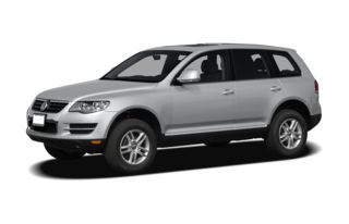 3/4 Front Glamour 2008 Volkswagen Touareg 2